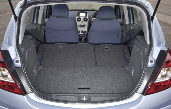 Vauxhall Corsa seats folded