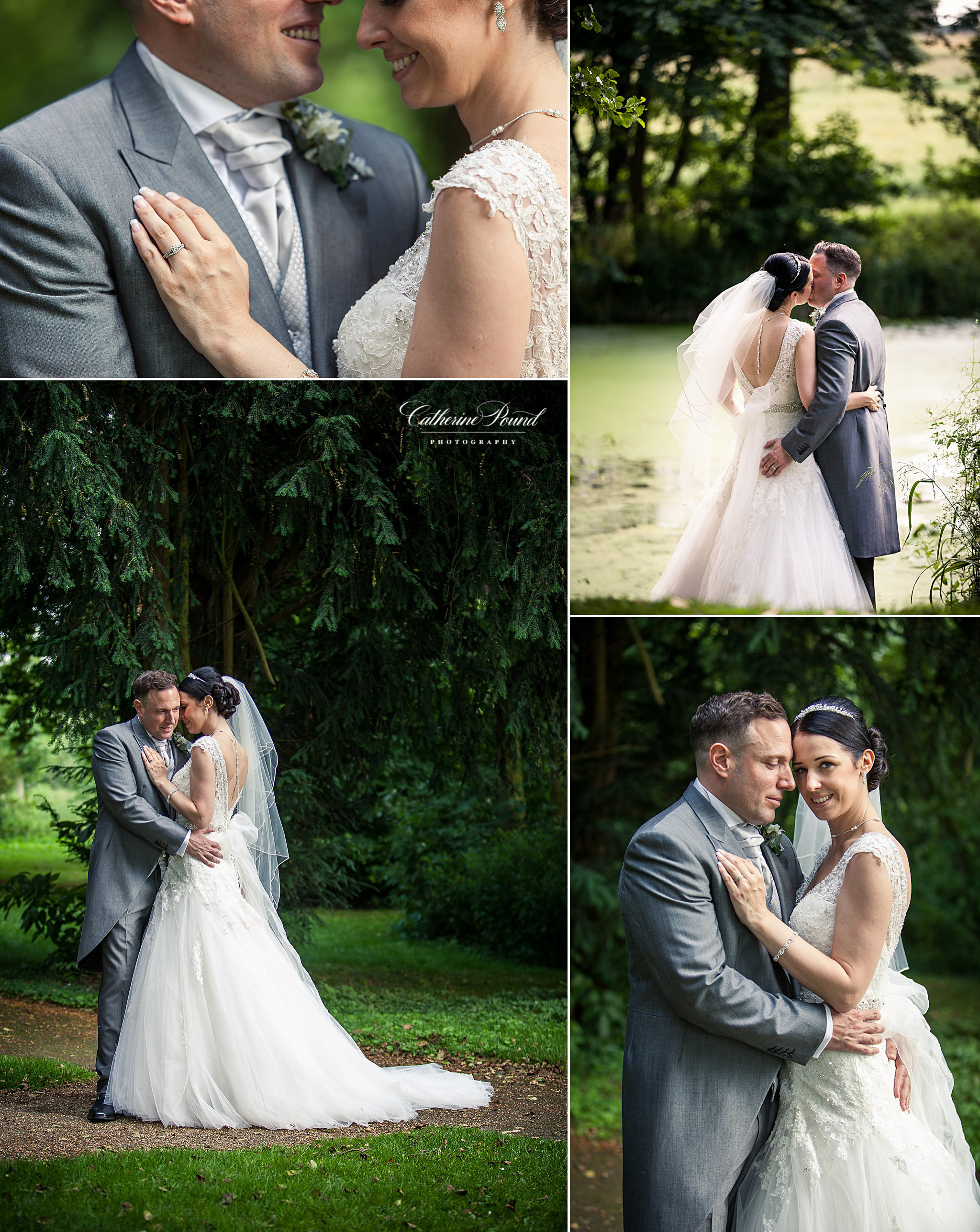Bridal portraits at Rushton Hall