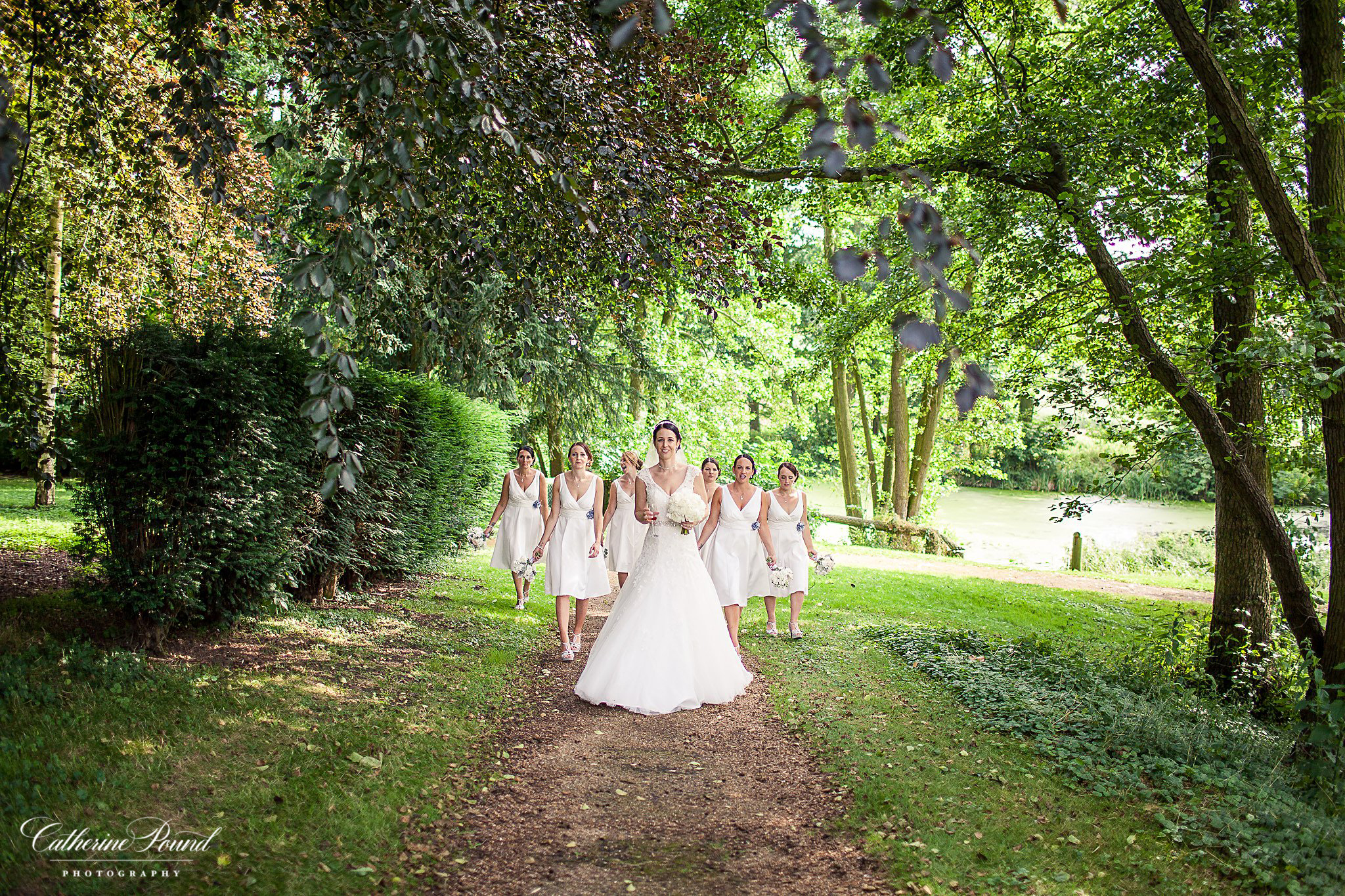 Bride with her maids