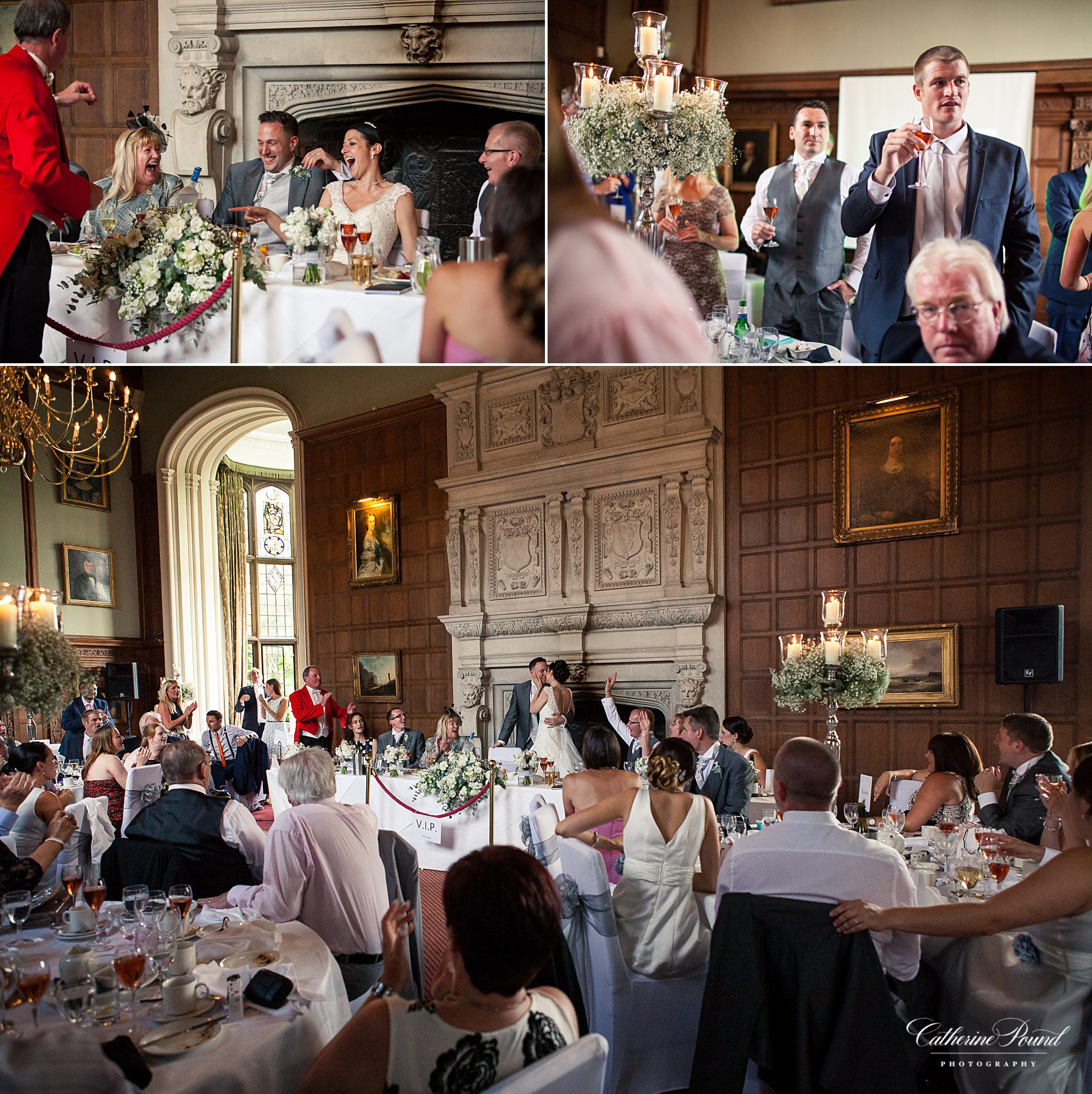 Bride and groom at Rushton Hall