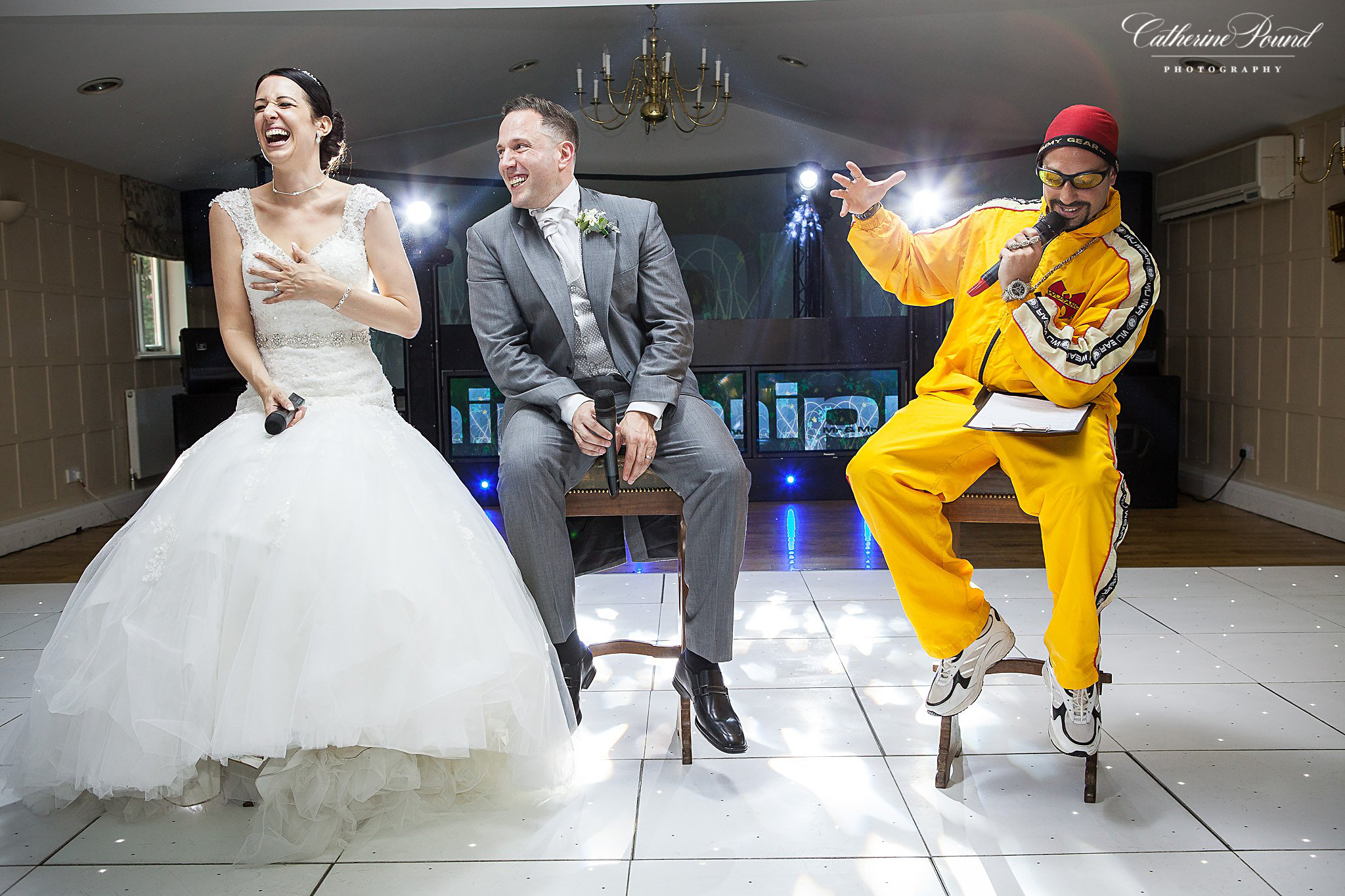 Ali G with bride and groom