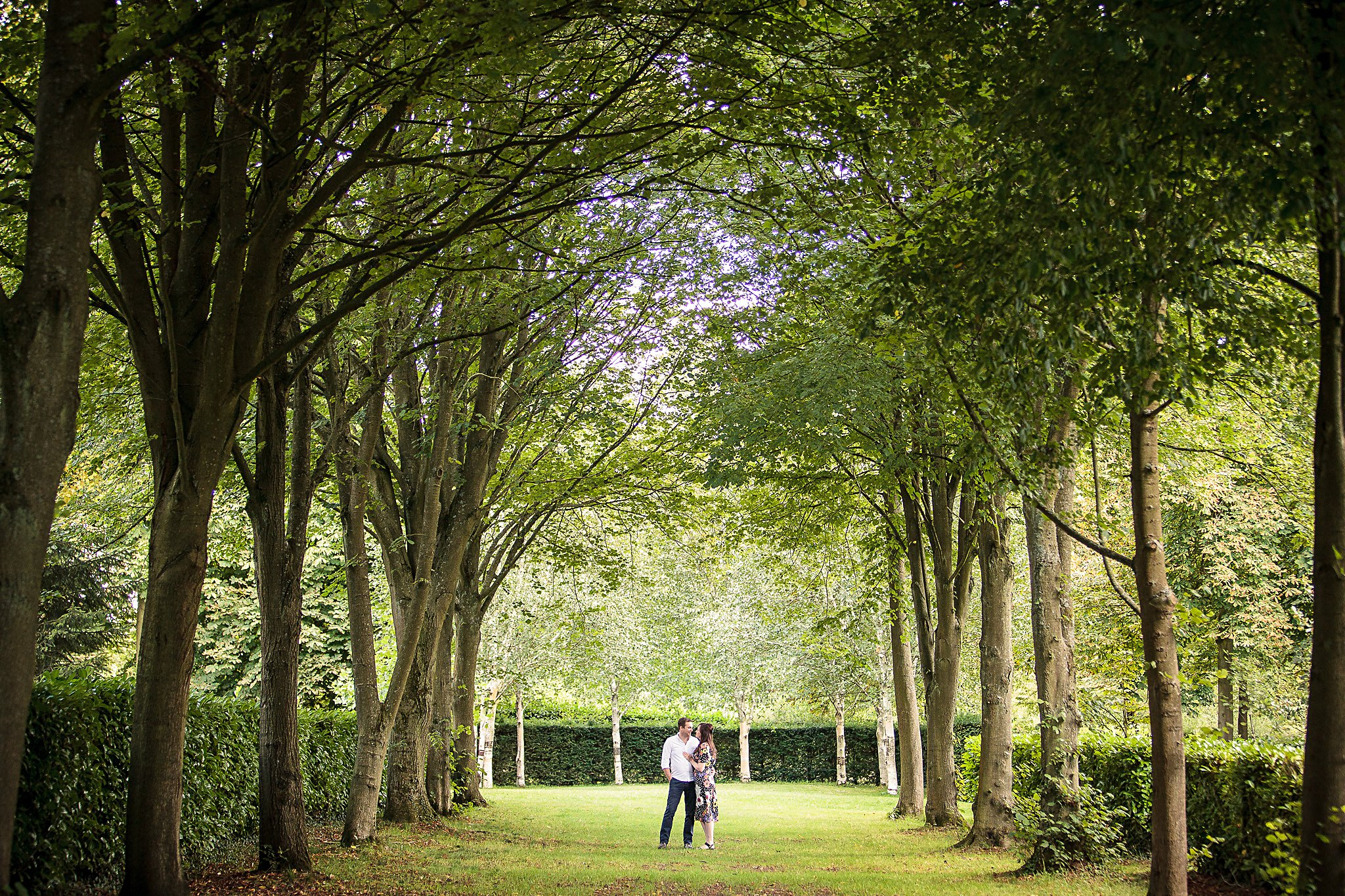Bride and Groom to be at Whipsnade Tree Cathedral