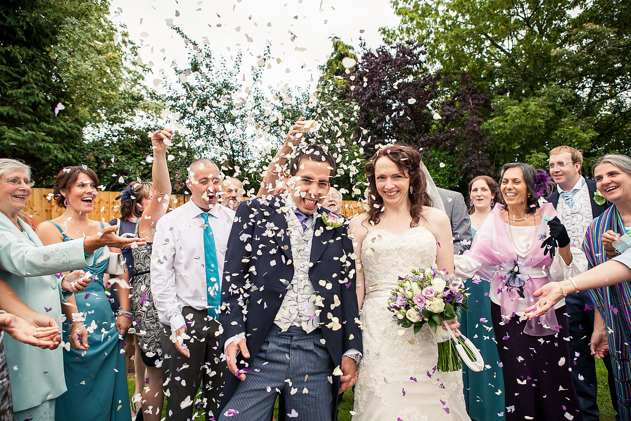 Confetti at Old Barn Inn Wedding