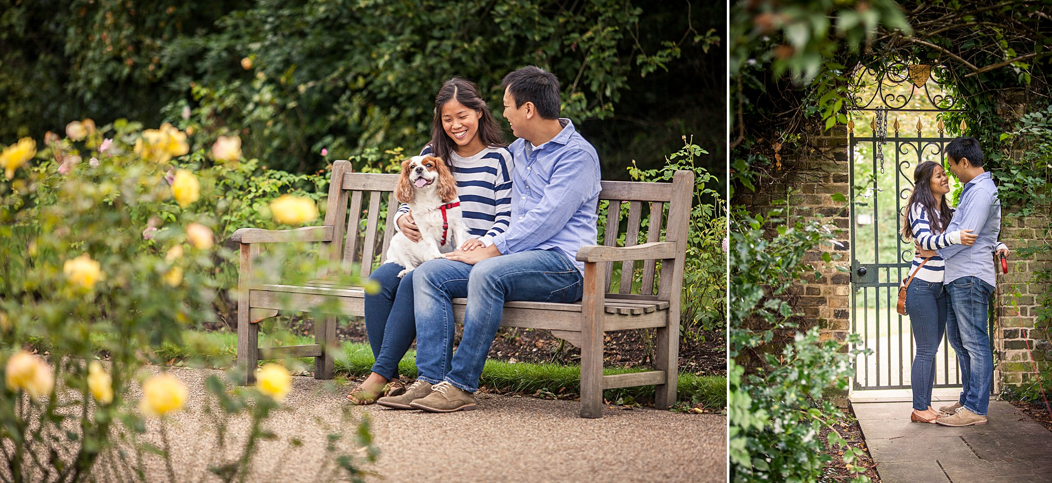 Couple portraits in garden