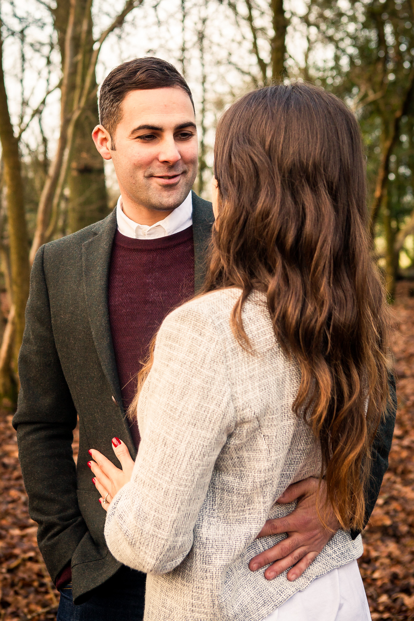 beautiful winter pre wedding shoot