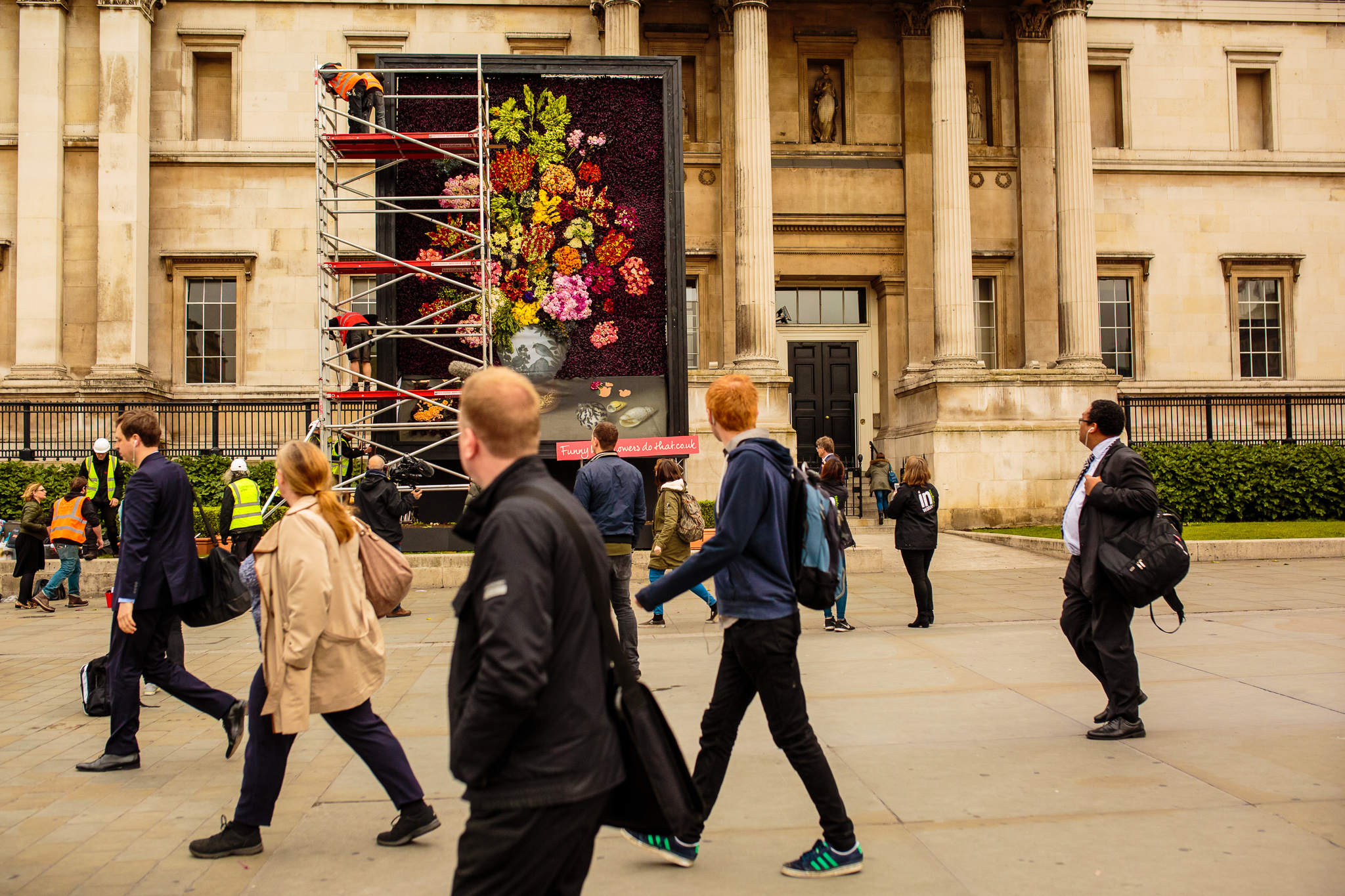 London wakes up to the huge work of art