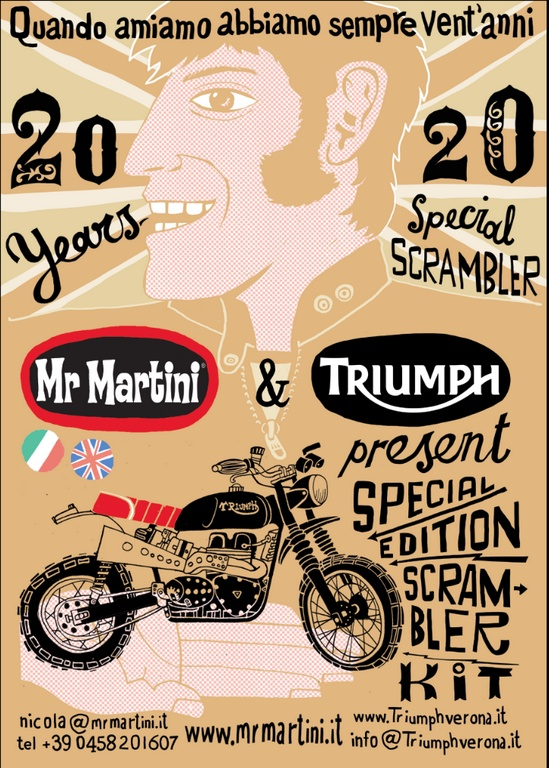 Triumph And Mr Martini Locandina Scrambler