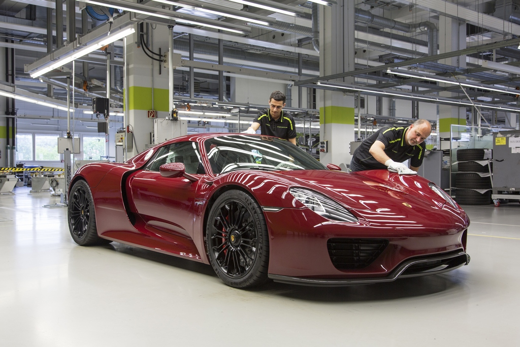 Porsche 918 Spyder Hybrid Fine Produzione