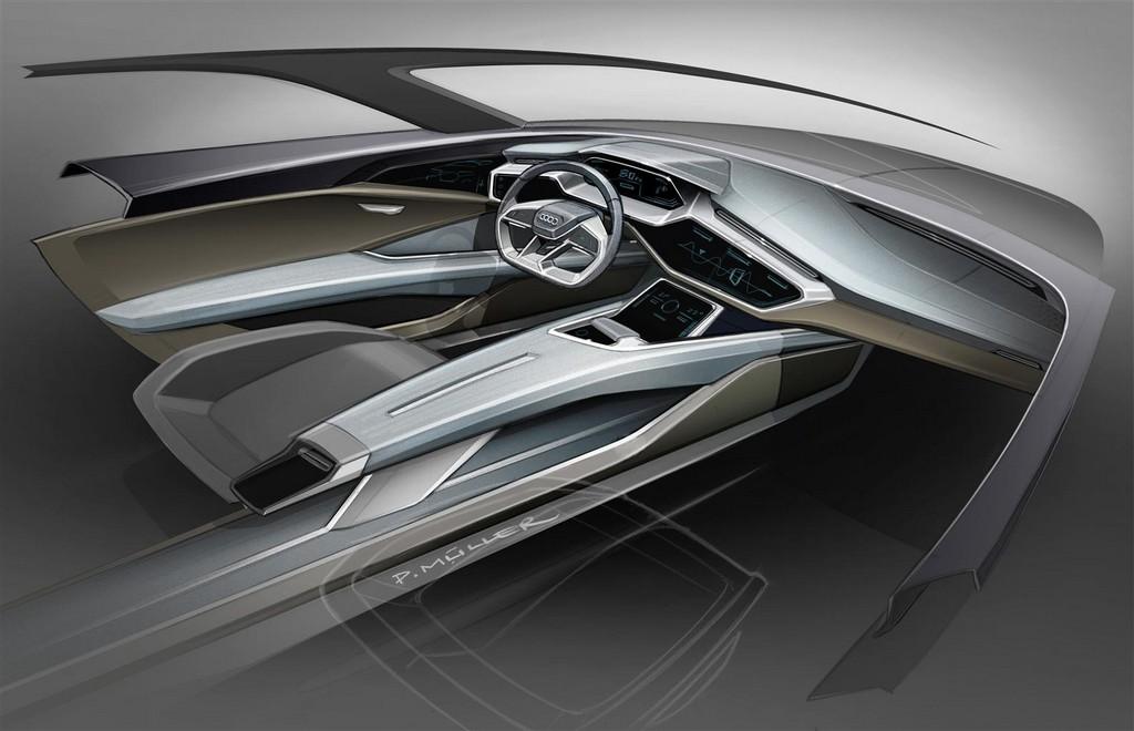 Audi e-tron quattro concept Sketch Interni