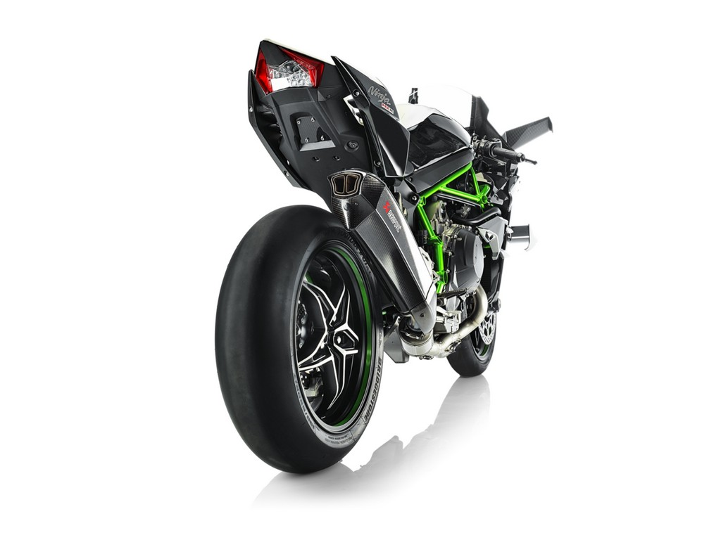 Kawasaki H2R Akrapovic Dietro