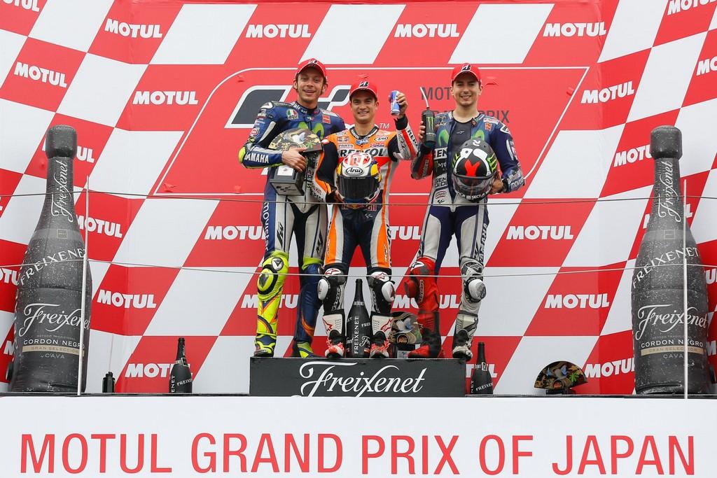 MotoGP 2015 Motegi Podio