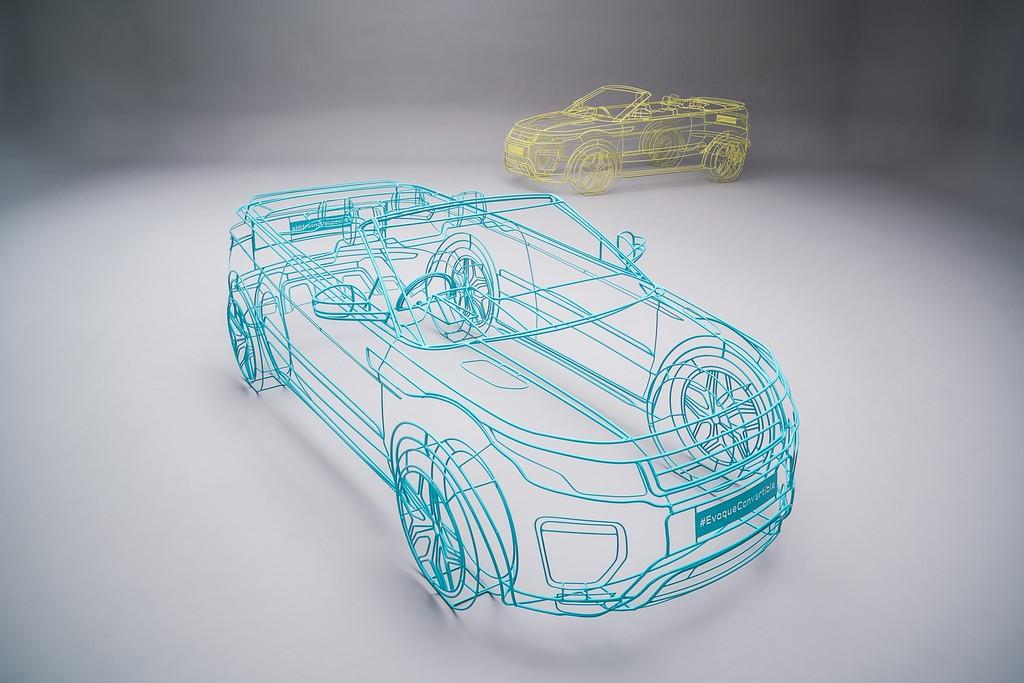 Range Rover Evoque Convertible WireFrame Londra 5