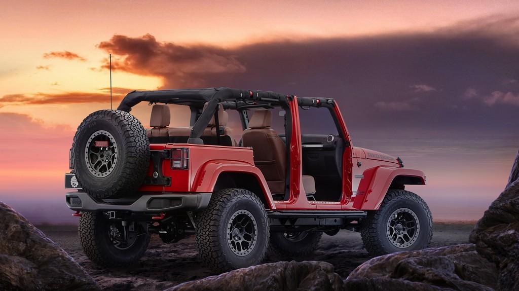 Jeep Wrangler Red Rock Concept Tre Quarti Posteriore