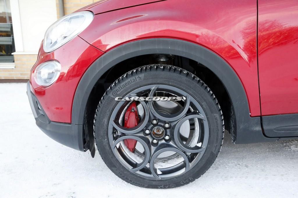 Fiat 500X Abarth Spy Photo Ruota