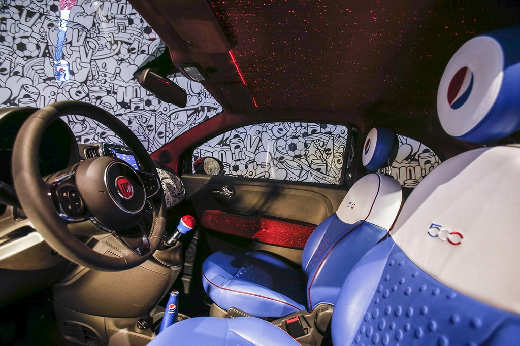 Fiat 500 Pepsi Live for Now Garage Italia Customs Interni