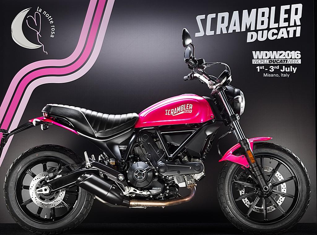 Ducati Scrambler Rosa Shocking