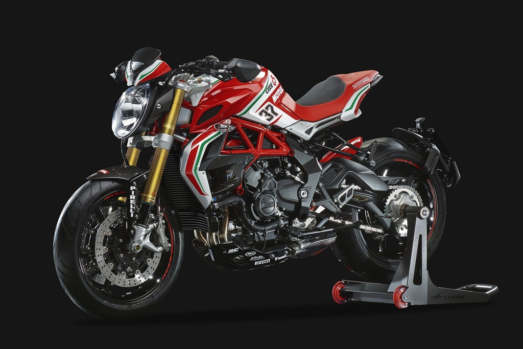 MV Agusta Dragster 800 RC Fronte Laterale SInistro