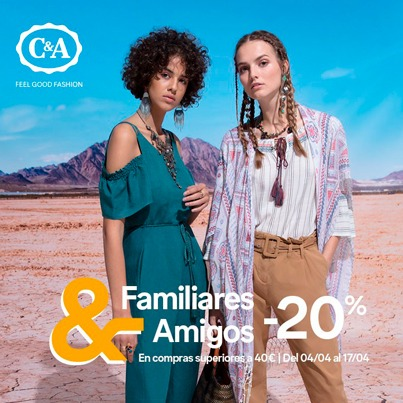 C&A: 20% DE DESCUENTO