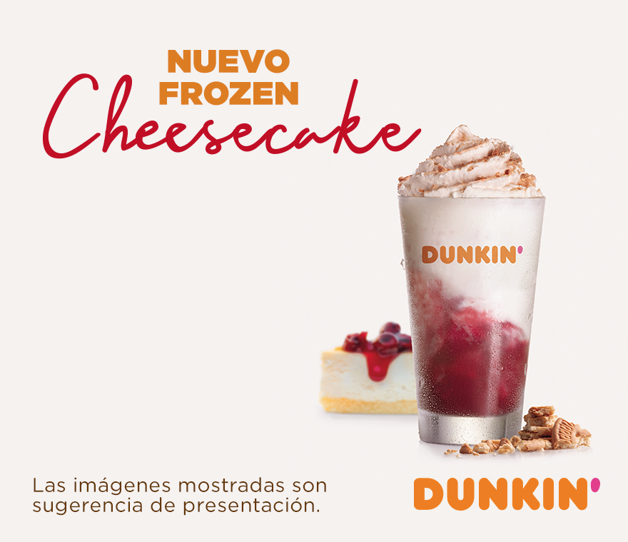 ¡Nuevo Frozen Cheesecake en Dunkin'Coffee!