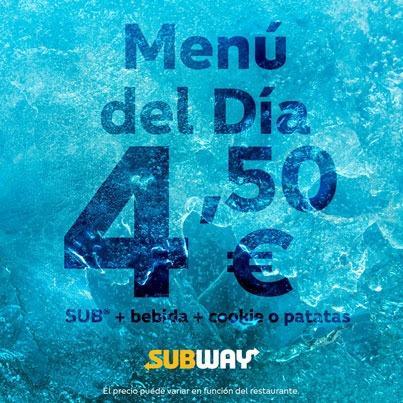 SUBWAY: MENÚ POR 4,50€