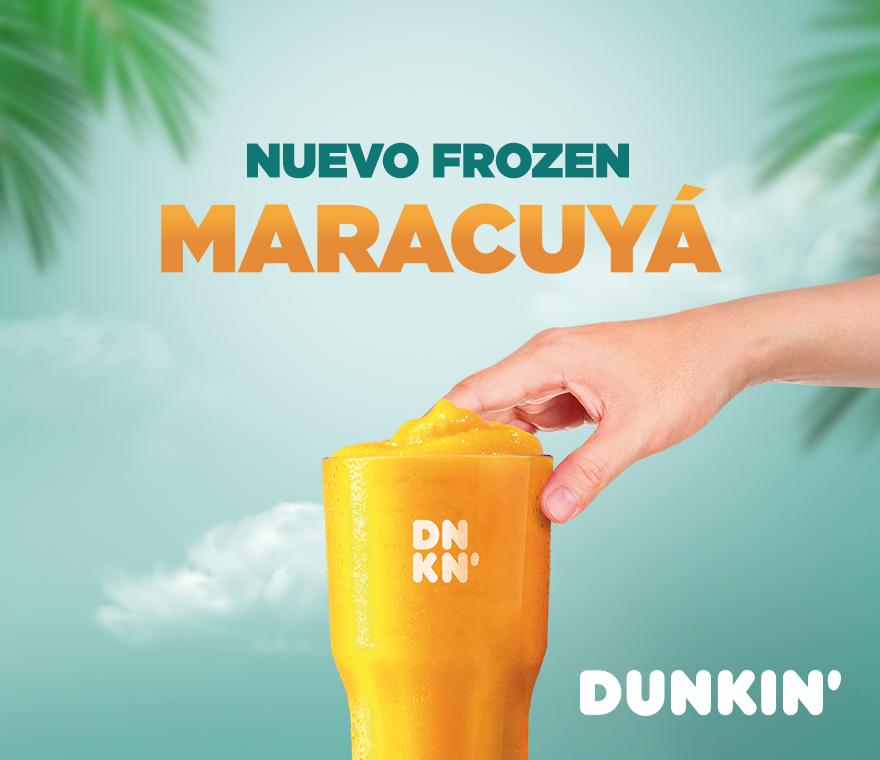 ¡Nuevo Frozen Maracuyá en Dunkin'Coffee!