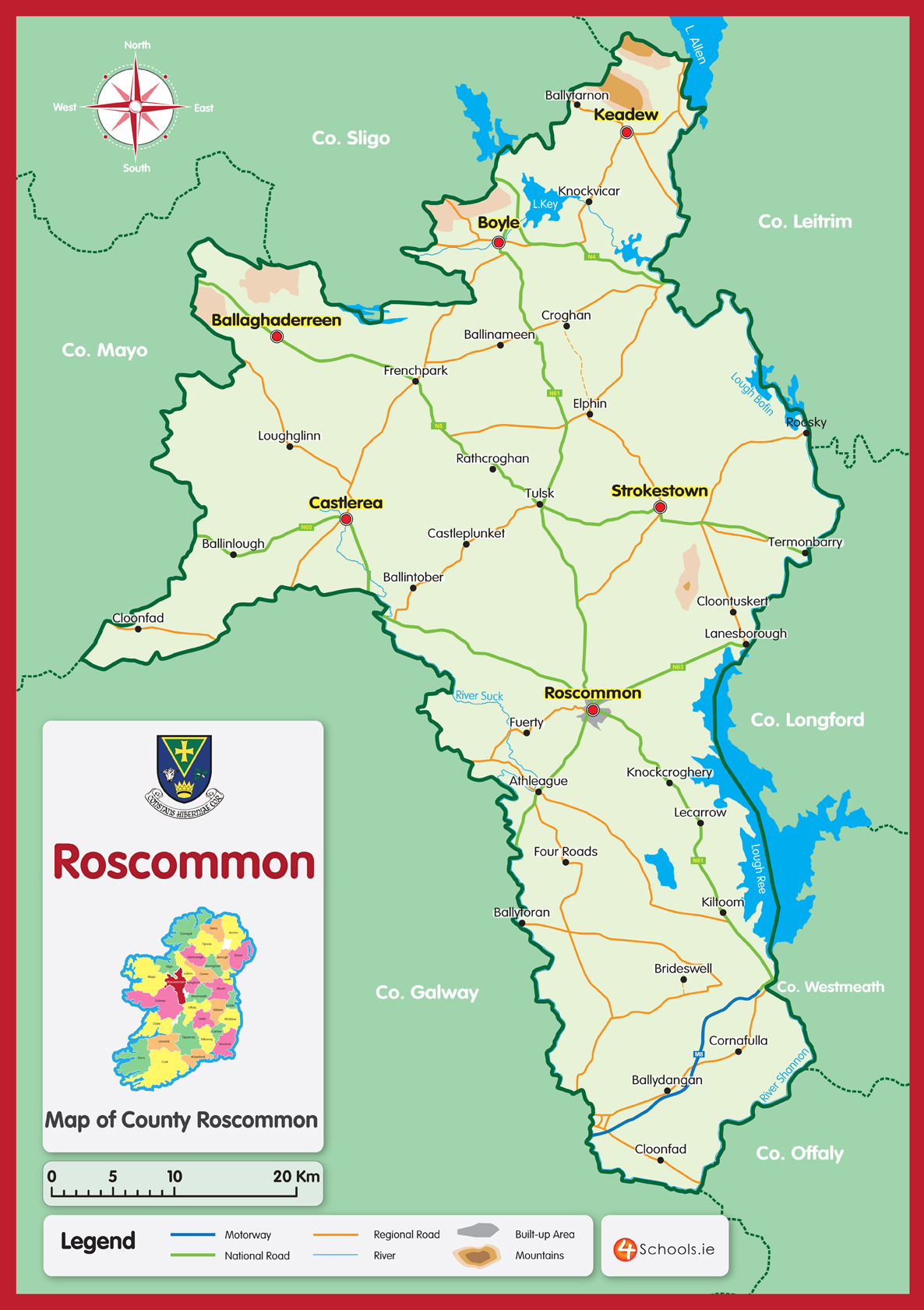 Roscommon County Map 4schools Ie Student Diaries