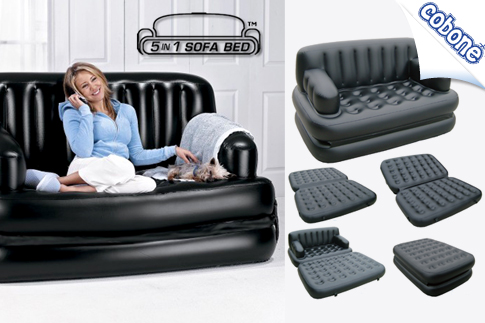 5 in 1 inflatable sofa bed for Sofa bed jeddah