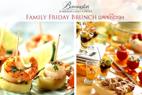 Make it a Friday to remember with brunch at The Cavendish, Bonnington Hotel with unlimited house beverages for AED 179 – Available with French bubbly for AED 239