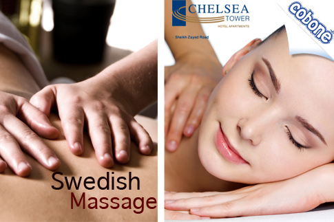 Experience tranquility with a 60-minute Swedish massage for AED 99 from Chelsea Serano Spa and Wellness Centre at Chelsea Tower Hotel Apartments – Valid for men and women!