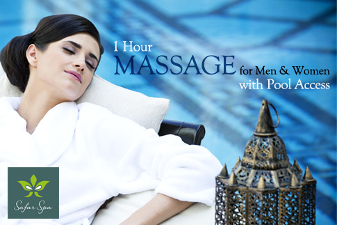 Soak up some much needed relaxation with a 1 Hour Massage and Swimming Pool Access at Safar Spa in the 5 Star Mövenpick Hotel Ibn Battuta Gate Dubai. Massages starting at AED 149 only – 4 massages to choose from! Couple's massage available too!
