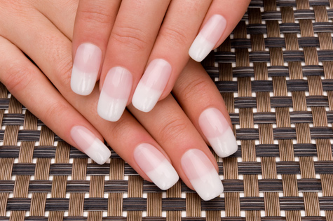 French manicure gel extensions