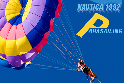 Enjoy the freedom of flight with a parasailing ride across the open waters of JBR beach with Nautica Parasailing for just AED 159