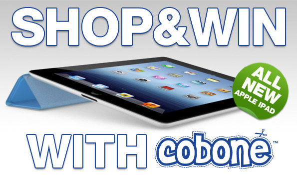 Shop to win the new iPad3 from Cobone.com