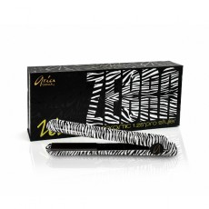 Aria Beauty Hair Straightener 1.25Inch Ceramic Silver Zebra Iron