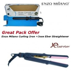 Amazing Gift Pack Deal ENZO MILANO Curling Iron+JOSE EBERstraightener