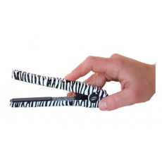 "ISO Beauty 0.5"" Mini Silk Limited Edition Hair Straightener - Zebra"
