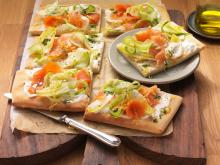 Wewalka - Smoked Salmon & Marinated Endive Pizza