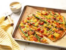 Wewalka - Asparagus Ham Pizza