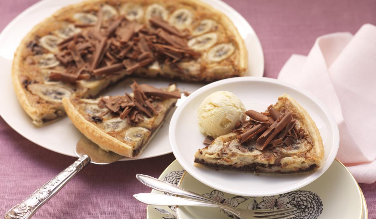 Wewalka Recipe - Chocolate Banana Tarte