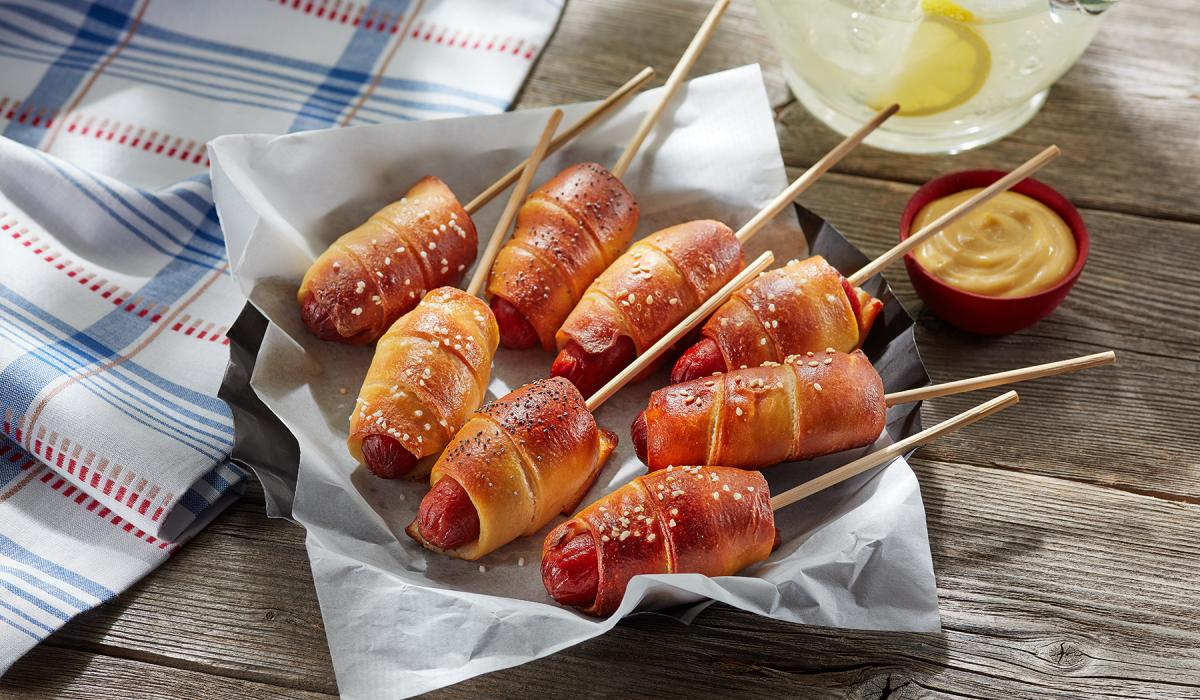 Wewalka Recipe - Pretzel Dogs