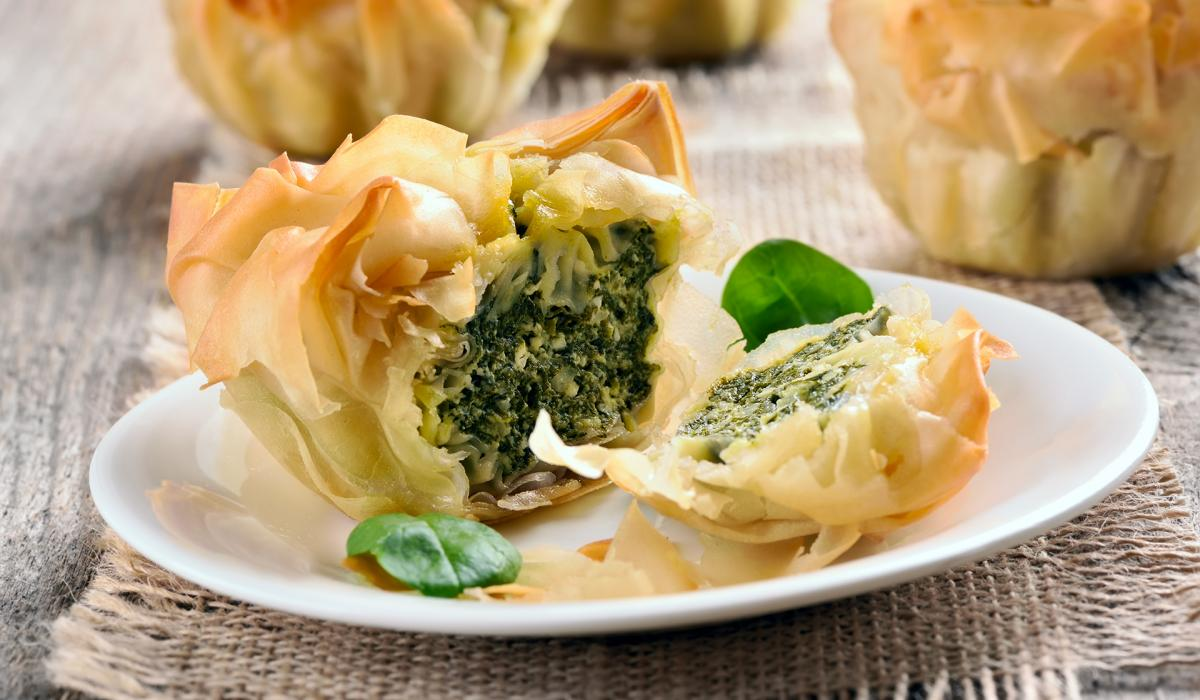 Wewalka Recipe - Spinach Parcels