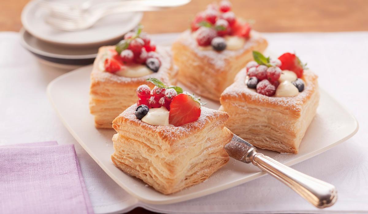Wewalka Recipe - Vanilla Cream Puff Pastry