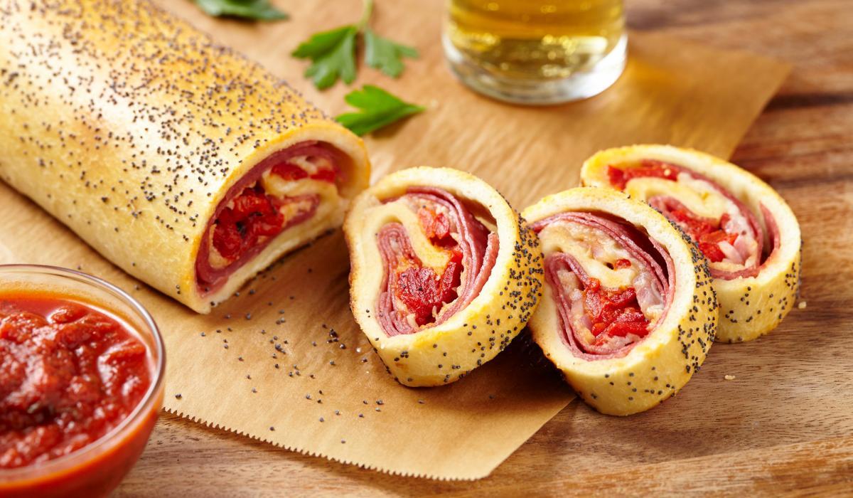 Wewalka Recipe - Salami & Cheese Stromboli