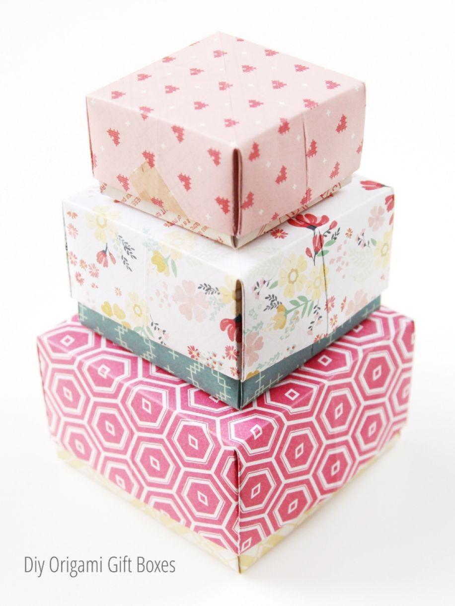 Оригами коробочка для подарка большую