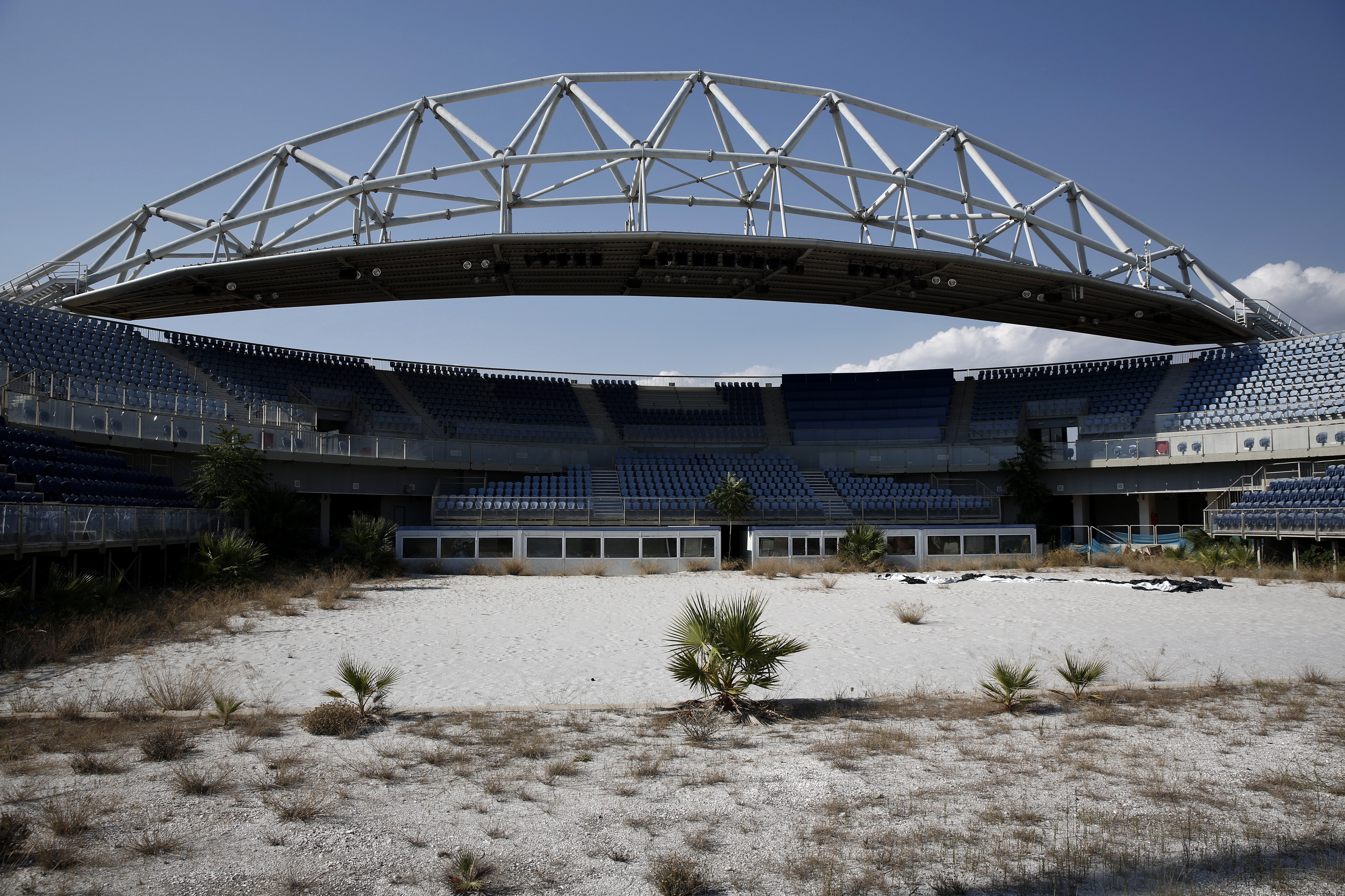 La struttura che ospitava le competizioni di beach volley