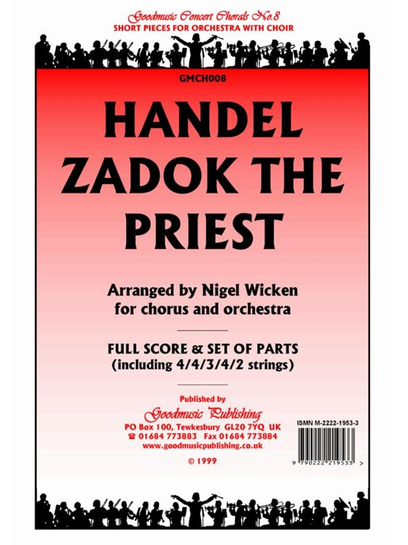 Coronation anthems -- 1 zadok, the priest 2the king shall rejoice (kalmus edition)