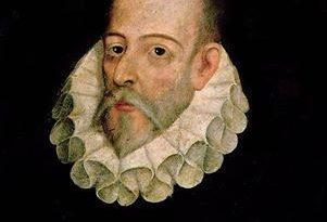 Copia del retrato de Miguel de Cervantes obra del poeta, erudito, pintor y teórico literario español del Siglo de Oro, Juan de Jáuregui.