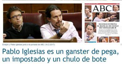 Pablo Iglesias en modo macarra en vena patética