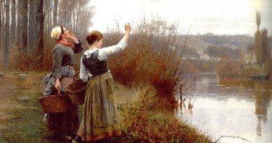 La pintura de los días por Demetrio Reigada: Hoy Daniel Ridgway Knight, el inspirado por la felicidad rural