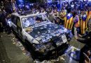Shame on you Mariano. Los coches de la Guardia Civil ¿Los pagarán los Mozos que permitieron el destrozo?